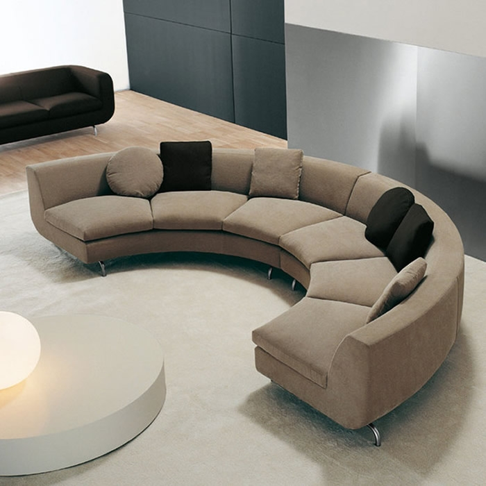 Sofa Beds Design Breathtaking Ancient Curved Sectional Sofa With nicely throughout Oval Sofas (Image 16 of 20)