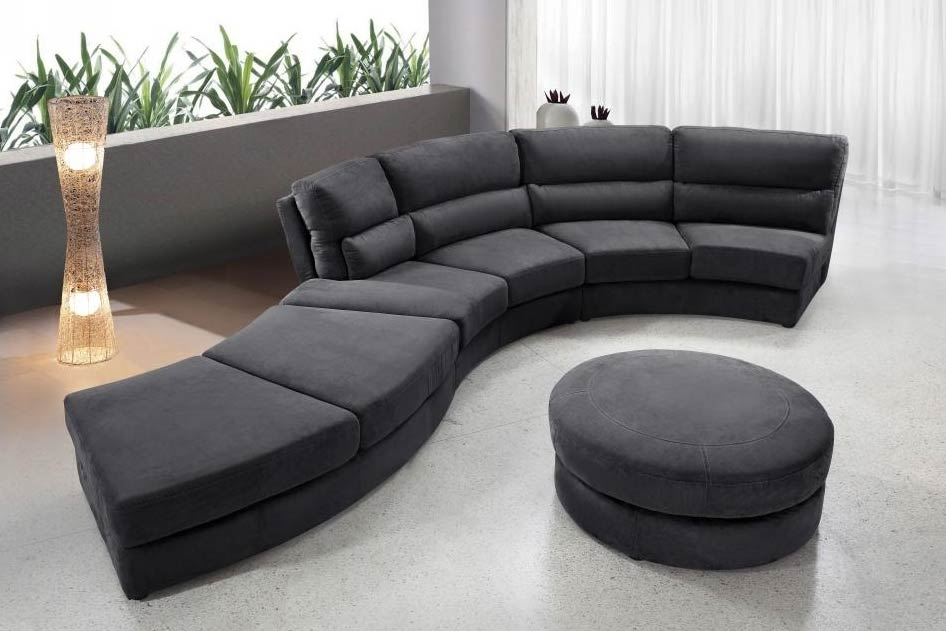 Sofa Beds Design Elegant Unique Rounded Sectional Sofa Decorating Well Intended For Circle Sectional Sofa (View 17 of 20)