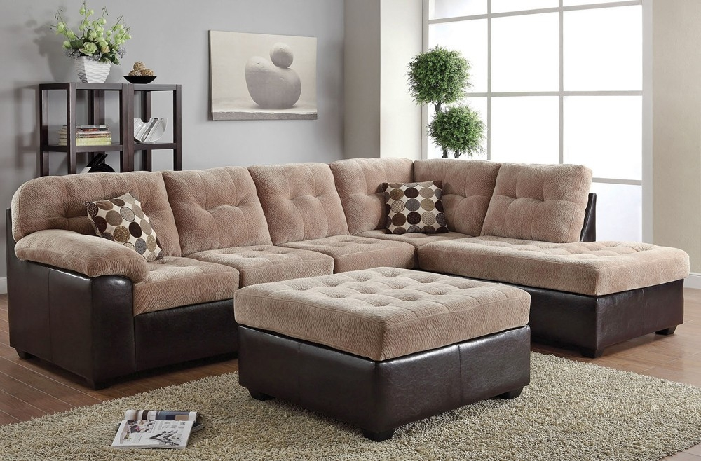 Sofa Beds Design Glamorous Modern Large Fabric Sectional Sofas effectively throughout Cloth Sectional Sofas (Image 18 of 20)