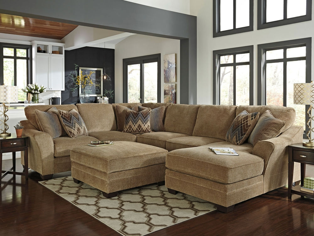 Sofa Beds Design Incredible Modern Chenille Sectional Sofas Decor certainly inside Chenille and Leather Sectional Sofa (Image 14 of 20)