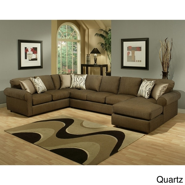 Sofa Beds Design Incredible Modern Chenille Sectional Sofas Decor properly intended for Chenille and Leather Sectional Sofa (Image 15 of 20)