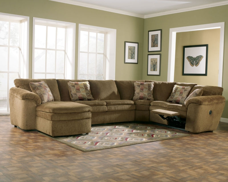 Sofa Beds Design Incredible Modern Chenille Sectional Sofas Decor well with Chenille And Leather Sectional Sofa (Image 16 of 20)