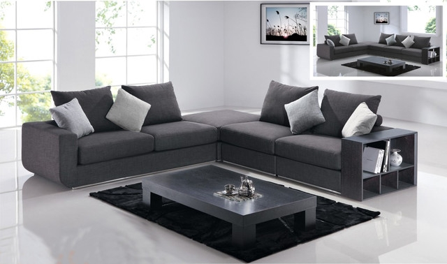Sofa Beds Design Inspiring Modern Charcoal Grey Sectional Sofa clearly intended for Charcoal Grey Sofas (Image 20 of 20)