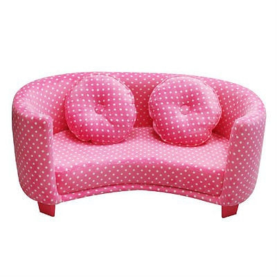 Sofa Comfy Kids Chair Pink Dots Child Soft Furniture Toddler definitely within Toddler Sofa Chairs (Image 16 of 20)