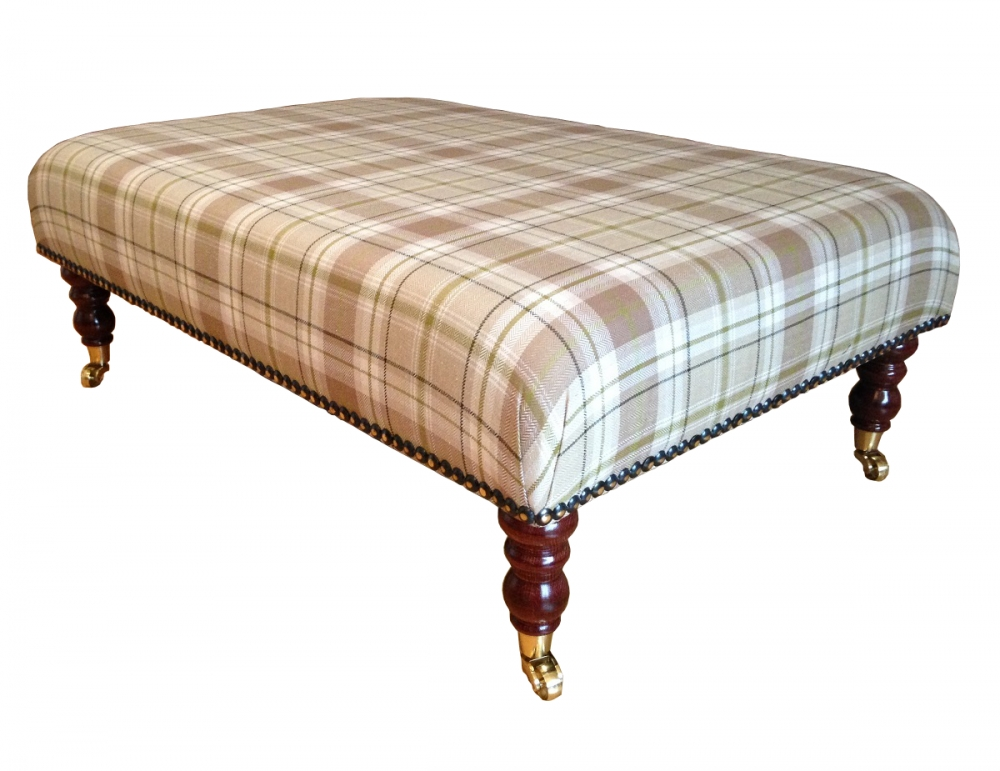 Sofa Large Upholstered Footstool Tartan Round Ottoman Square perfectly within Large Footstools (Image 19 of 20)