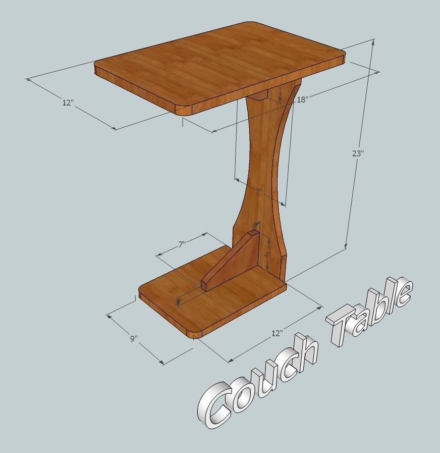 Sofa Side Table Remote Caddy And Drink Holder In One Cut Plans definitely for Sofa Drink Tables (Image 18 of 20)
