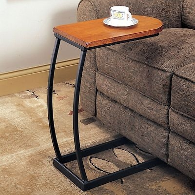 Sofa Table Couch Tray Side Cup Holder Magazine Tv Dinning Snack most certainly for Sofa Drink Tables (Image 19 of 20)