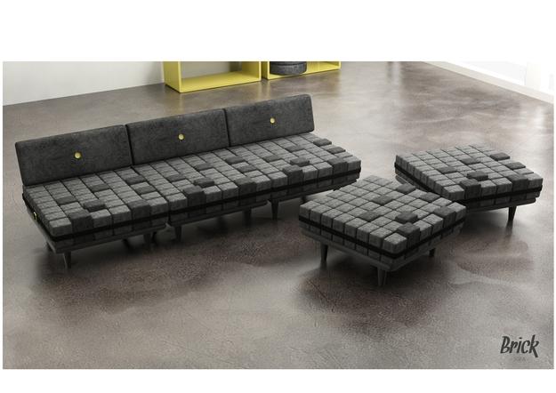Sofa The Brick Goodca Sofa perfectly throughout Brick Sofas (Image 17 of 20)