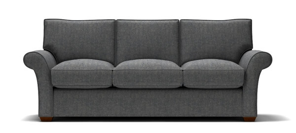 Sofa With Navy Tweed Fabric Stl Illustrator well in Tweed Fabric Sofas (Image 19 of 20)