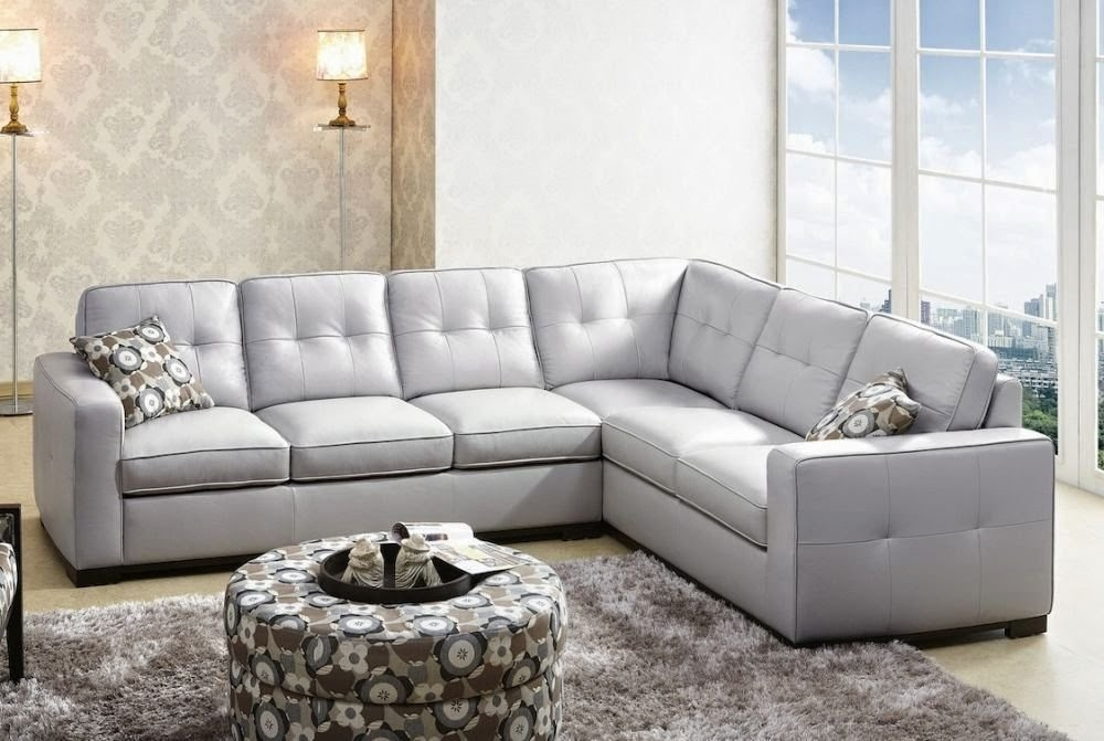 Sofas Center Light Gray Leather Sectional Sofa Sofalight Grey nicely for Gray Leather Sectional Sofas (Image 16 of 20)