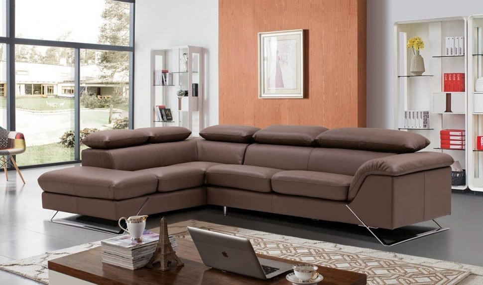 Sofas Center Modern Grey Italian Leather Sectional Sofa Brown very well within Classic Sectional Sofas (Image 19 of 20)