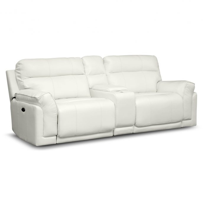 Sofas Center Reclining Sofa With Console Double Power Recliner Certainly Inside Sofas With Consoles (View 11 of 20)