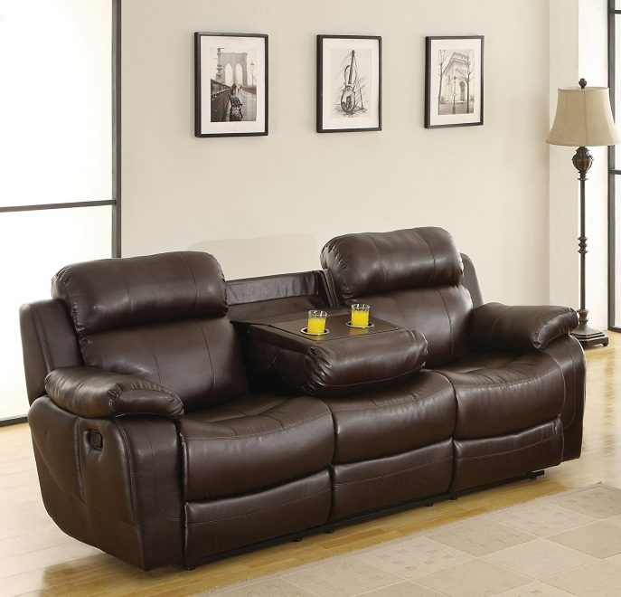 Sofas Center Reclining Sofas With Consoles Dual Sofa Center certainly regarding Sofas With Consoles (Image 12 of 20)