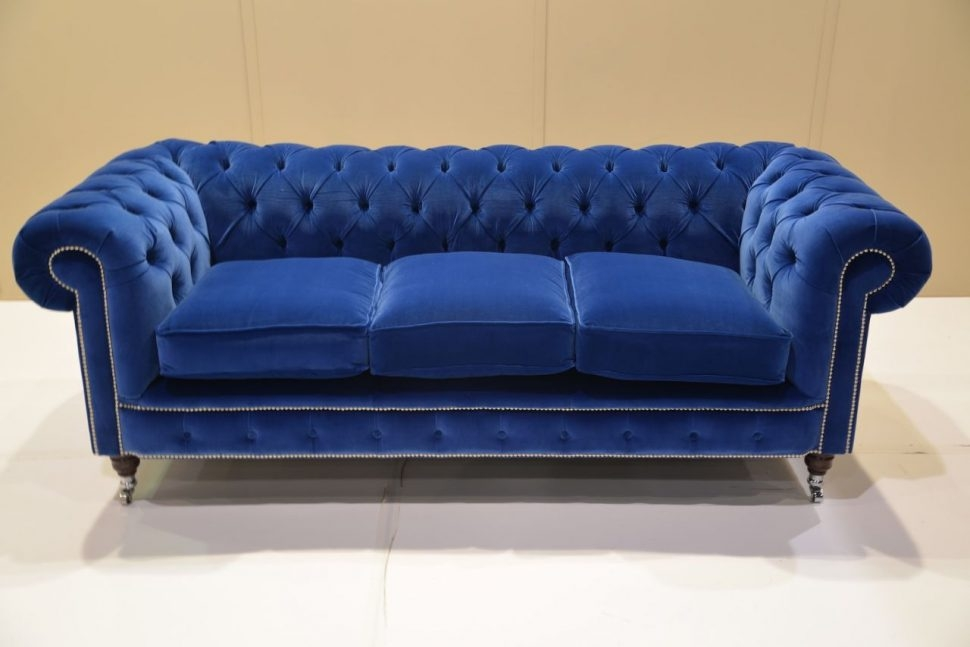 Sofas Center Sofa Sale Great Offers On Chesterfield Sofas And definitely throughout Blue Sofa Chairs (Image 20 of 20)