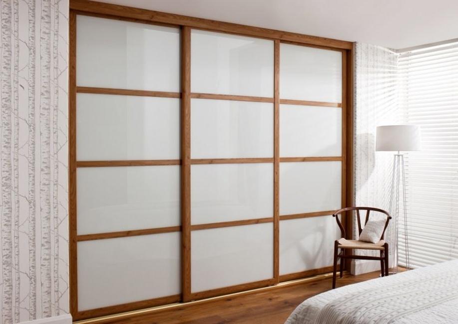 Solid Oak Framed Wardrobe Doors Lanarkshire perfectly inside Solid Wood Fitted Wardrobe Doors (Image 9 of 30)