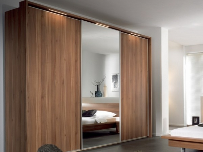 Solid Oak Sliding Wardrobe Doors Wood Slide Door Built In Wardrobe very well in Solid Wood Built in Wardrobes (Image 8 of 20)