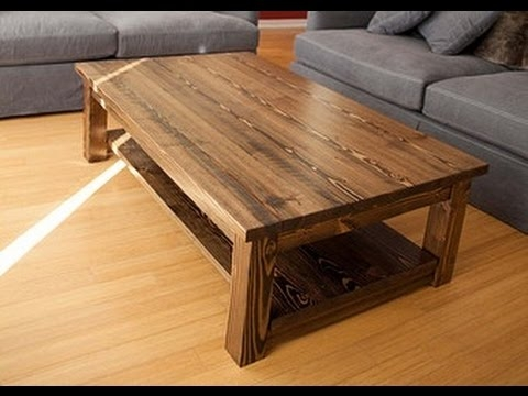 Solid Wood Coffee Table Youtube perfectly with Coffee Tables Solid Wood (Image 17 of 20)