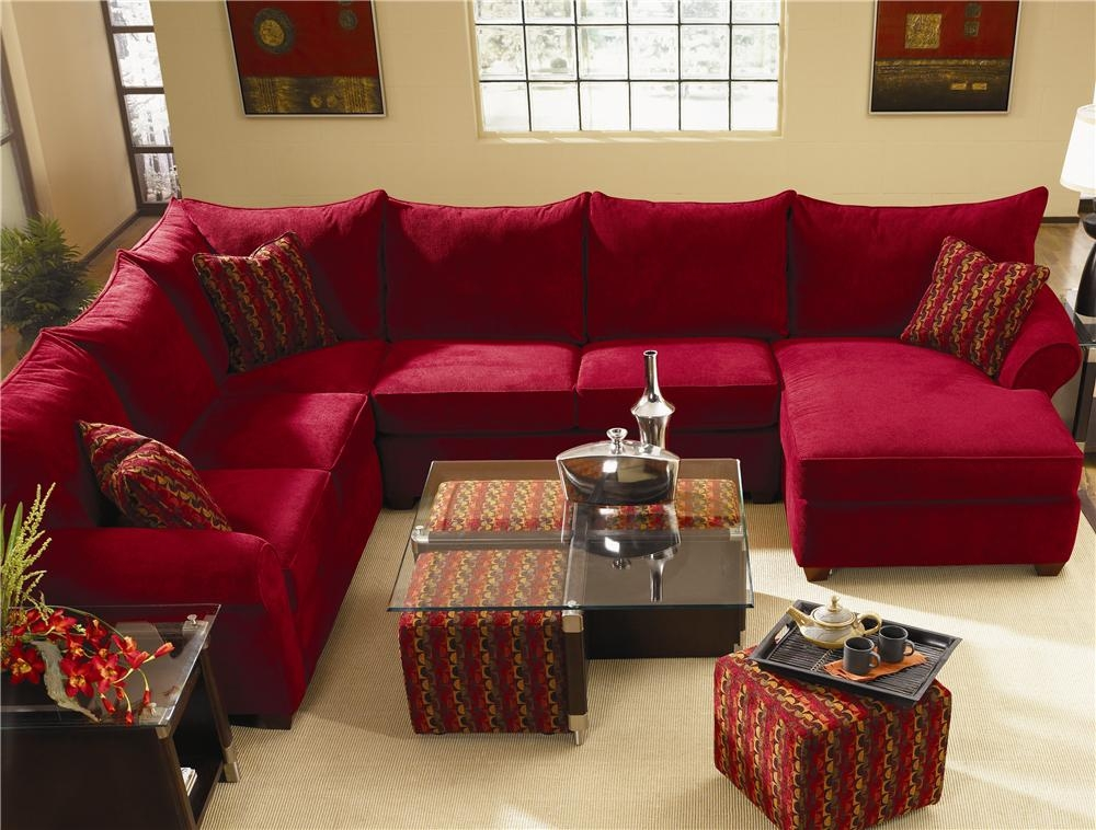 Spacious Sectional With Chaise Lounge Klaussner Wolf And well regarding Sofas With Chaise Longue (Image 18 of 20)