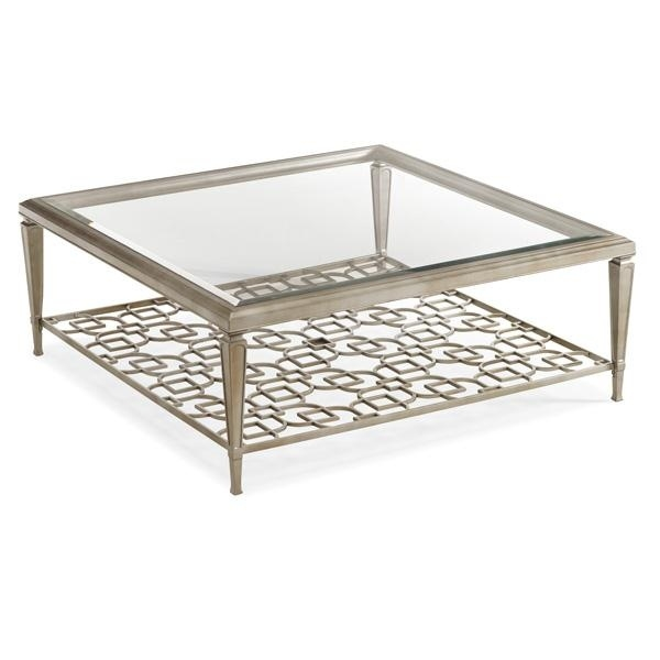 Square Metal Coffee Table Unique Square Coffee Table On Coffee properly throughout Metal Square Coffee Tables (Image 19 of 20)