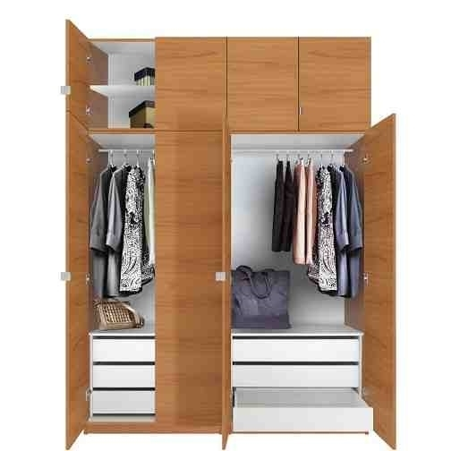 Standing 3 Door Wardrobe Hpd317 Free Standing Wardrobes Al well pertaining to 3 Door Wardrobe With Drawers and Shelves (Image 11 of 30)