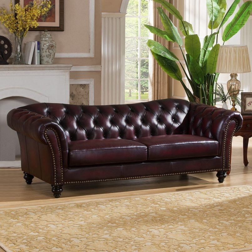 Storage Canterbury Leather Chesterfield Style 3 Seater Sofa well throughout Canterbury Leather Sofas (Image 19 of 20)