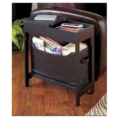 Storage Side Table Living Room End Flip Top Shelf Magazine Rack certainly with Sofa Side Tables With Storages (Image 19 of 20)