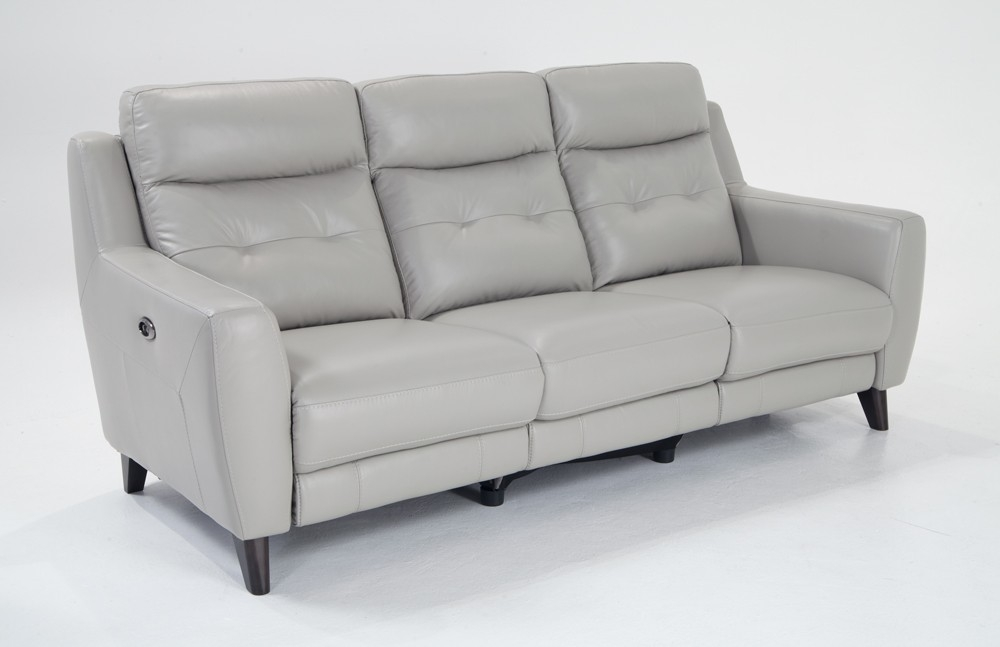 Stratus Leather Power Reclining Sofa Bobs Discount Furniture well in Recliner Sofa Chairs (Image 18 of 20)