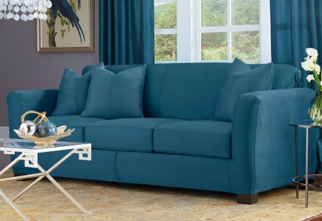 Sure Fit Category clearly pertaining to Turquoise Sofa Covers (Image 17 of 20)