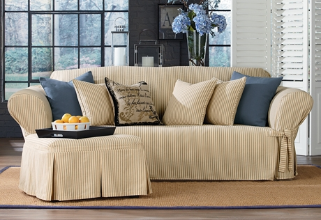 Sure Fit Category very well within Slipcovers Sofas (Image 17 of 20)