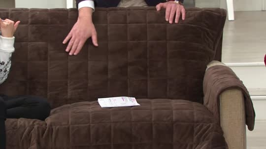 Sure Fit Deluxe Comfort Sofa Furniture Cover W Non Skid Page 1 Good Intended For Sofa Armchair Covers (View 19 of 20)