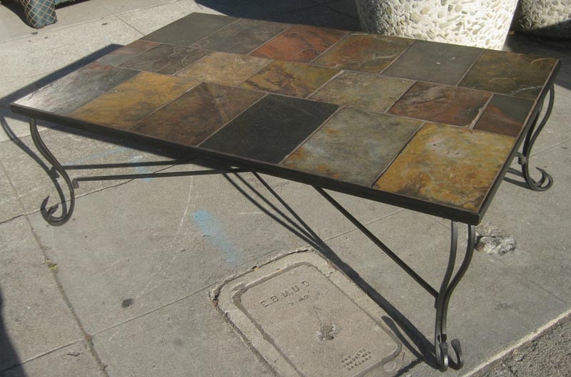 Delightful Table Slate Tile Coffee Table Home Interior Design Most Certainly  Pertaining To Round Slate Top Coffee
