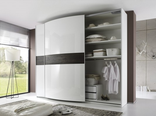 Tambura Curved Sliding Doors Wardrobe White Wenge Buy Online At definitely inside Curved Wardrobe Doors (Image 10 of 20)