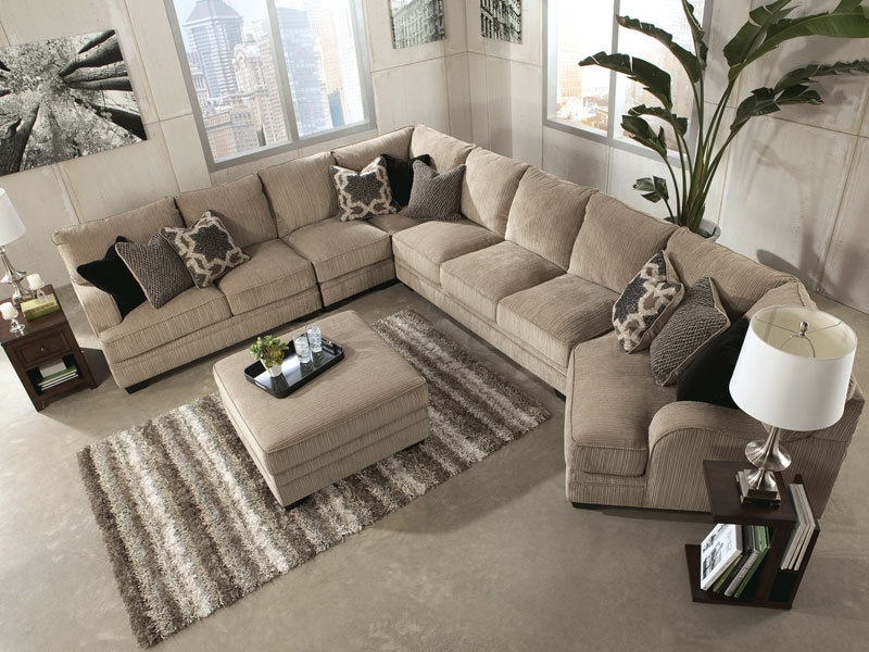 Taraval 2 Piece Sectional With Oak Base Home Ideas Pinterest Perfectly Throughout Big Sofas Sectionals (View 12 of 20)