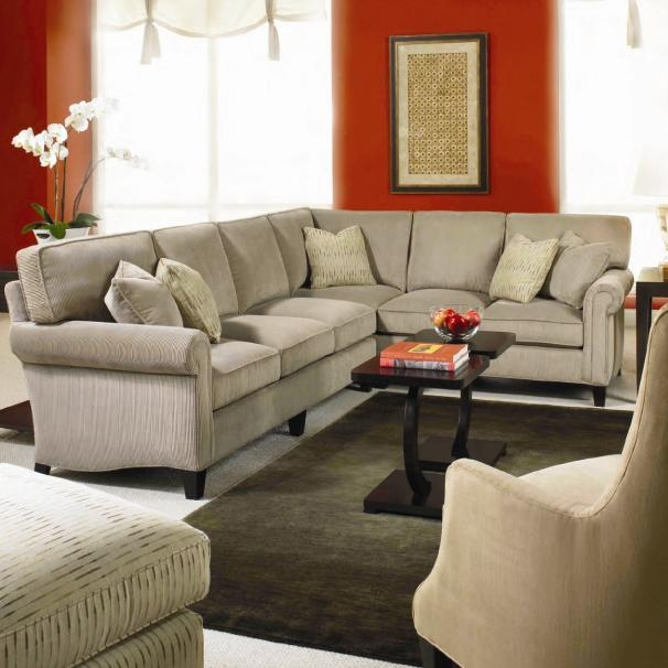 Taylor King Cozy Creations Customizable Upholstered Sectional Sofa very well regarding Cozy Sectional Sofas (Image 20 of 20)