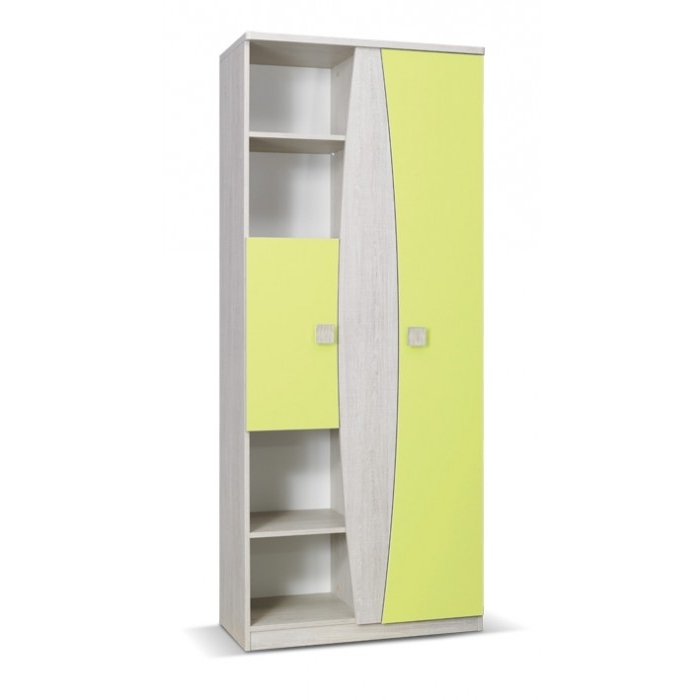 Tenus Childrens 2 Door Wardrobe With Shelves good pertaining to 2 Door Wardrobe With Drawers and Shelves (Image 12 of 30)