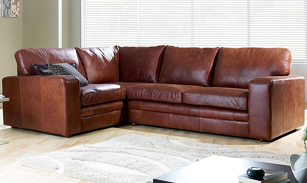 The Different Options In Brown Leather Corner Sofa nicely pertaining to Small Brown Leather Corner Sofas (Image 15 of 20)