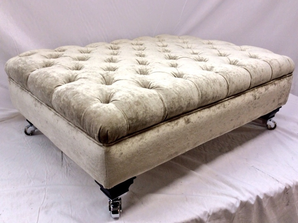 The Footstool Company Ralvern Upholstery Ralvern Upholstery properly throughout Large Footstools (Image 20 of 20)