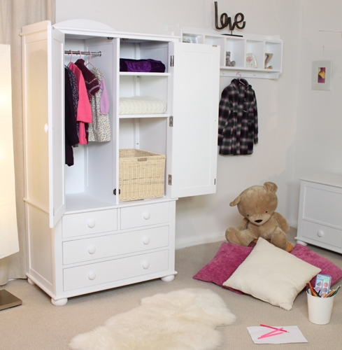 The Neutral Colours Look Good In Kids Rooms Too Maybe Wallpaper clearly throughout Childrens Wardrobes With Drawers and Shelves (Image 13 of 30)