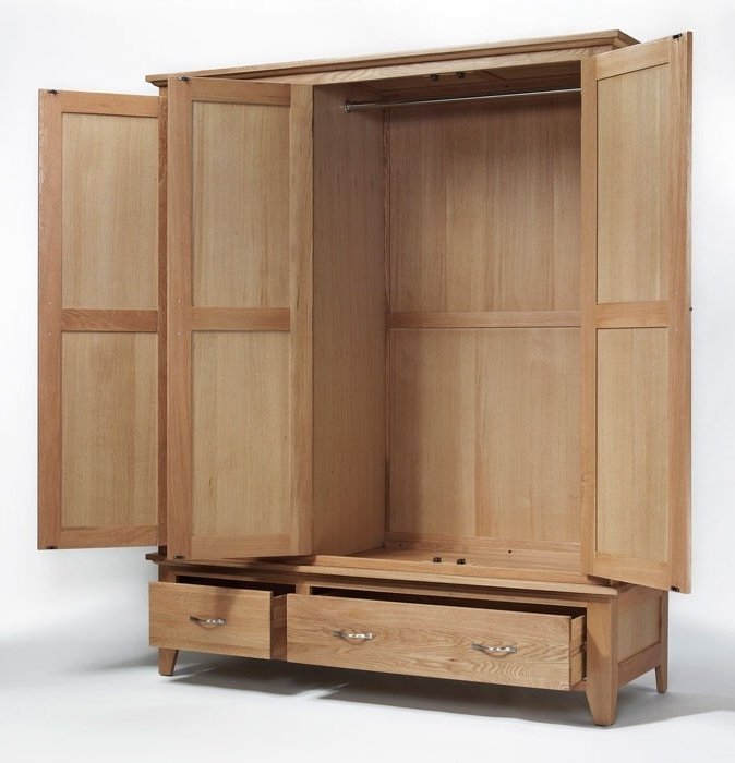 Featured Photo of Double Rail Oak Wardrobes