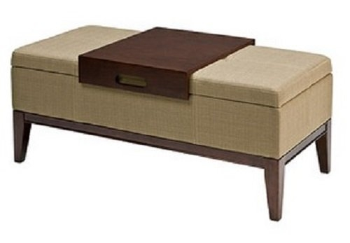 This Versatile And Sylish Storage Ottoman Can Be Used As An Bench definitely with regard to Coffee Table Footrests (Image 20 of 20)