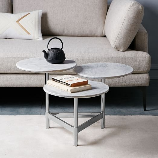 Tiered Circles Coffee Table Marble West Elm certainly in C Coffee Tables (Image 20 of 20)