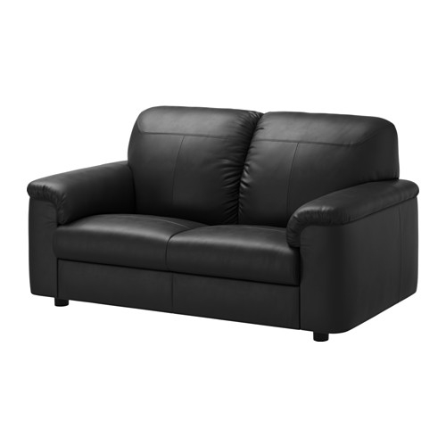 Timsfors Two Seat Sofa Mjukkimstad Black Ikea clearly in IKEA Two Seater Sofas (Image 20 of 20)