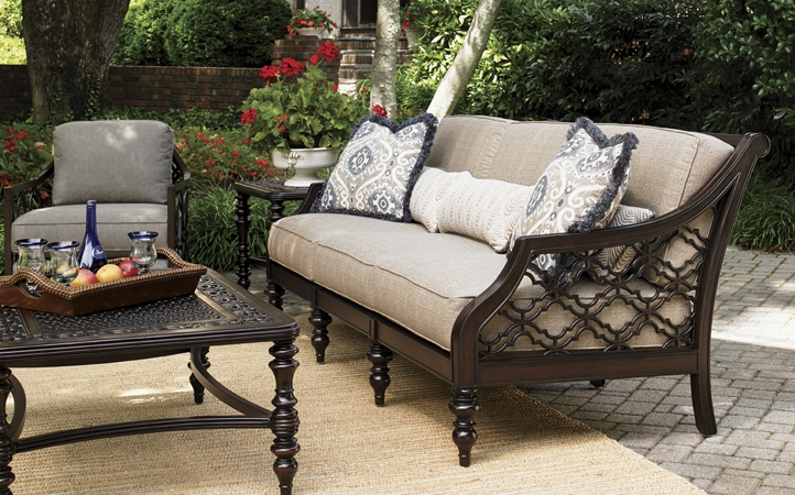 Tommy Bahama Outdoor Lexington Home Brands perfectly within Outdoor Sofa Chairs (Image 19 of 20)