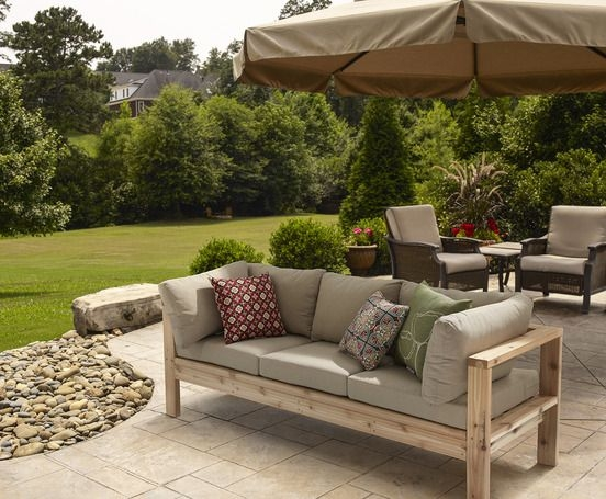 Top 25 Best Build A Couch Ideas On Pinterest Outdoor Furniture perfectly regarding Outdoor Sofa Chairs (Image 20 of 20)