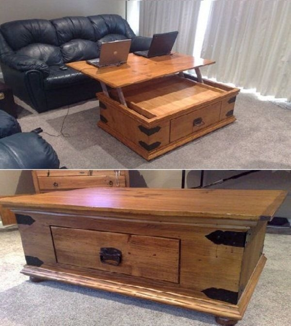 Top 25 Best Lift Top Coffee Table Ideas On Pinterest Used well pertaining to Coffee Tables Top Lifts Up (Image 19 of 20)