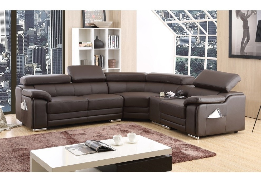 Top Leather Corner Sofa Corner Sofas U Shaped Sofas Modular Sofas nicely pertaining to Small Brown Leather Corner Sofas (Image 17 of 20)