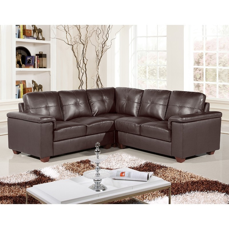 Top Leather Corner Sofa Corner Sofas U Shaped Sofas Modular Sofas very well with regard to Small Brown Leather Corner Sofas (Image 19 of 20)