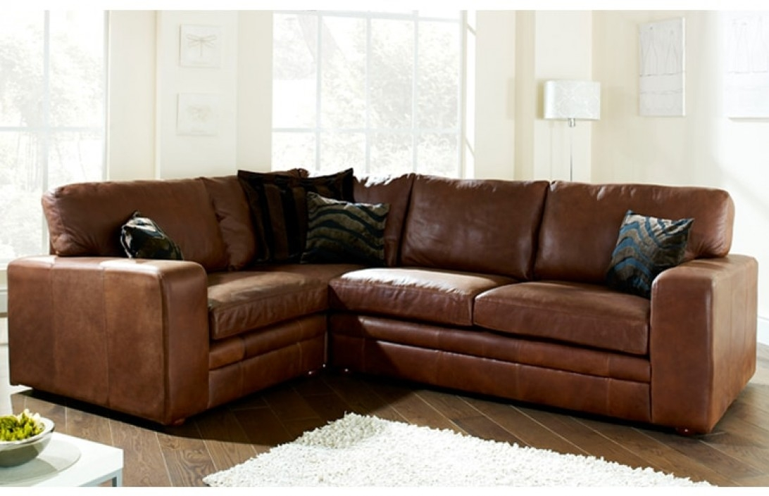 Top Leather Corner Sofa Corner Sofas U Shaped Sofas Modular Sofas very well with regard to Small Brown Leather Corner Sofas (Image 18 of 20)