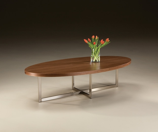 Top Modern Oval Coffee Table On Modern Oval Walnut Coffee Table properly in Oval Walnut Coffee Tables (Image 20 of 20)