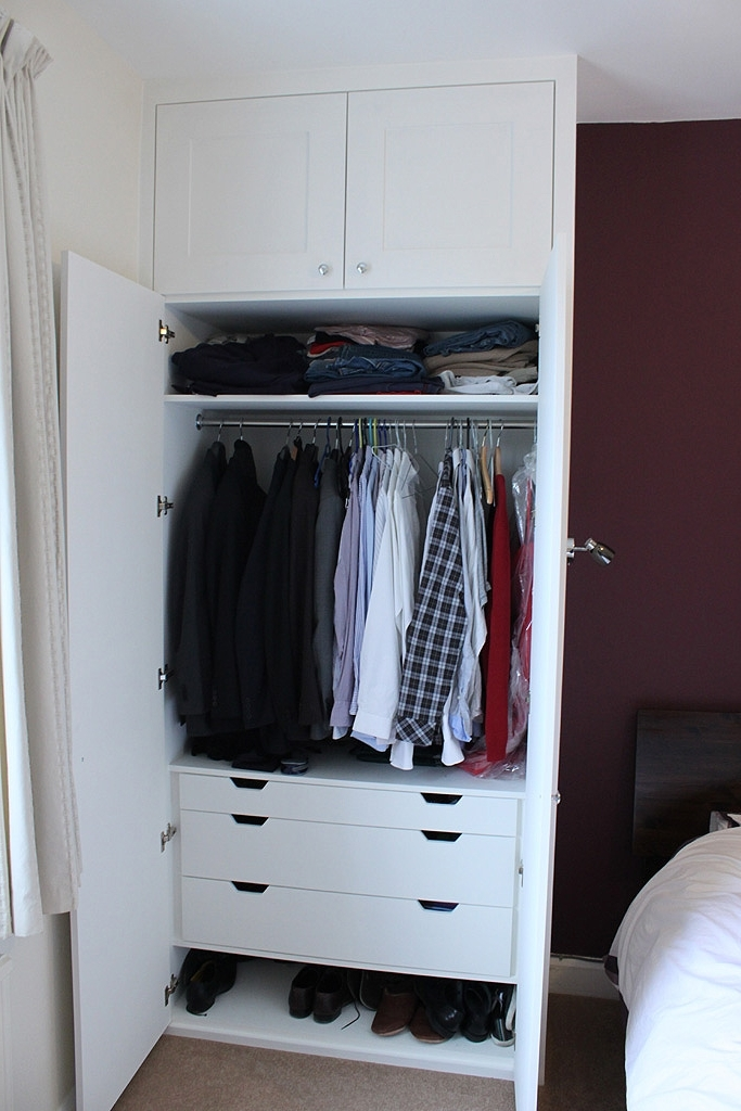 Traditional Fitted Wardrobe With Drawers Hand Painted Master effectively with Wardrobe With Shelves And Drawers (Image 4 of 30)